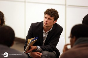 John from our team, while facilitating a thematic session on legal frameworks. Photo by Emad Karim.