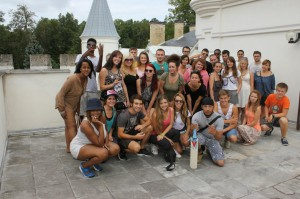 Young people on the youth exchange