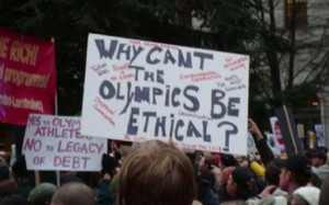 Sanitizing public spaces in Olympic host cities