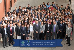Official photograph of the Y20 Mexico Delegates