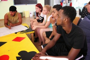 Debating during the youth exchange