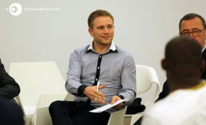 Alex from our team, while facilitating a thematic session on legal frameworks. Photo by Emad Karim.