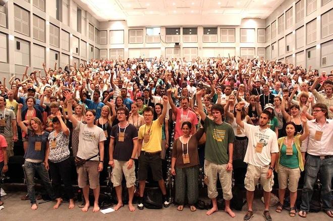 Participants at Global Power Shift. Source: Green Prophet