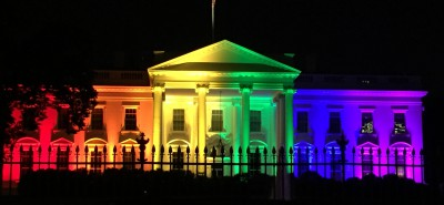 White House lit up after the SCOTUS ruling