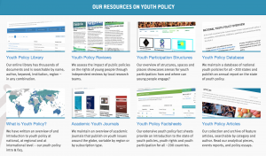 The new resource section of youthpolicy.org